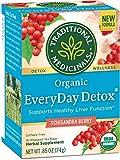 Traditional Medicinals Herbal Teas, Everyday Detox, 16 Tea Bags (Pack of 3)