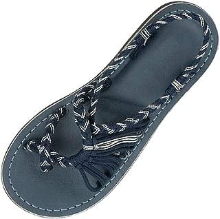 Women's Flip Flops,LuluZanm Sale! Ladies Summer Hemp Rope Roman Beach Shoes Slippers Hollow Flat Sandals