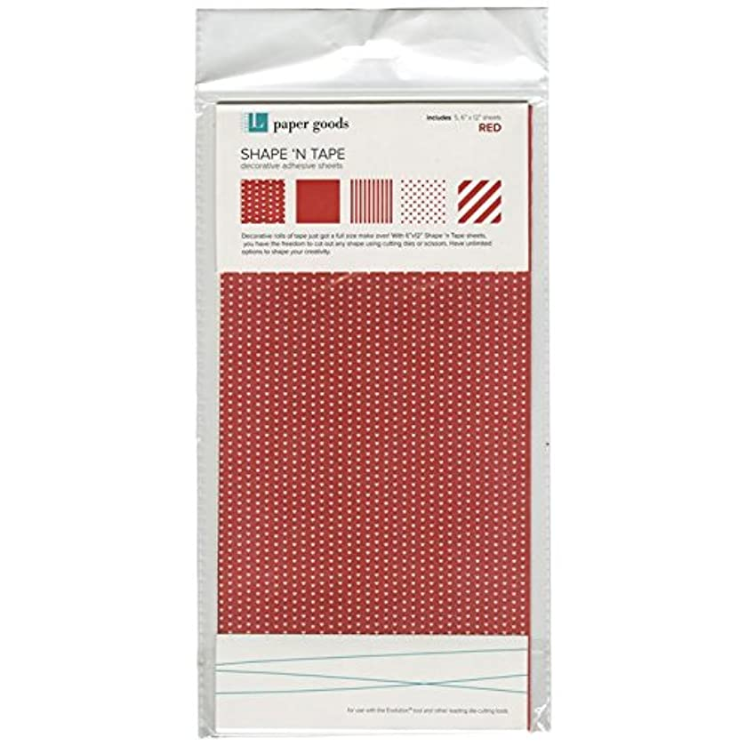 QUICKUTZ Lifestyle Crafts Shape N' Tape Sheet, Red