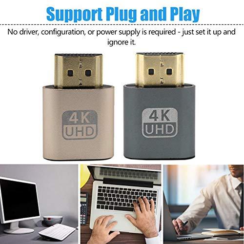 zhangguoyu VGA HDMI Dummy Plug Virtuelle Anzeige Emulator Adapter DDC Edid Unterstützung 1920x1080P Für Grafikkarte BTC Mining Miner