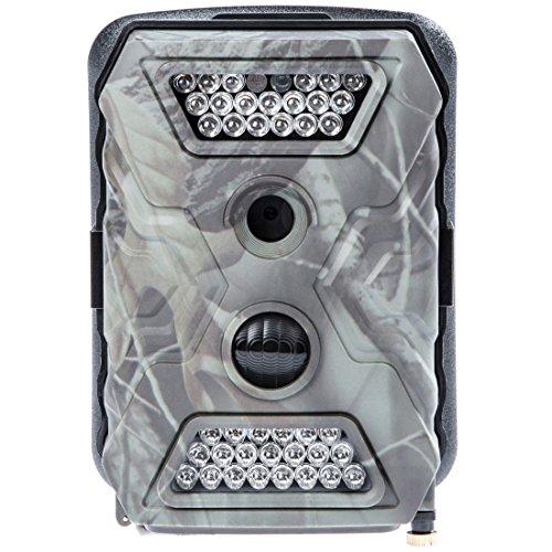 Ultrasport UmovE Secure Guard PRO (Ready), videocamera di sorveglianza/mimetica, videocamera da esterni con sensore di movimento, PRO READY incl. batterie e scheda di memoria SD 16 GB – Spy cam con risoluzione Full HD, Chiaro LED