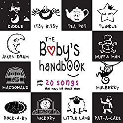 The Baby's Handbook Back and White Nursery Rhymes Book Cover