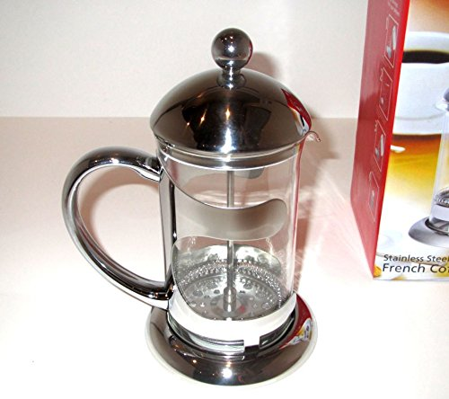 Uniware Stainless Steel French Coffee Press, Silver (600ml (2.5 Cups))