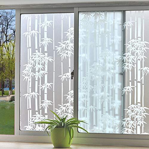 N / A Selbstklebende Vinylfenster Sichtschutzfolie Glasfensteraufkleber Spiegelfolie für Dekoration und Kunststoff Bambus Schlafzimmer Badezimmer Home Glasdekoration Folie A71 60x100cm