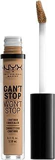 NYX Professional Makeup Can't Stop Won't Stop Contour Concealer, Caramel 15, CSWSC15