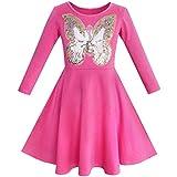 Sunny Fashion Robe Fille Chouette Ice Crème Papillon Sequin De Tous Les Jours Habiller 8 Ans