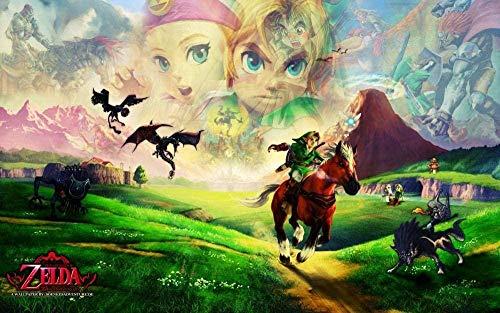 TTbaoz 1000 Piezas de Rompecabezas para AdultosThe Legend of Zelda Poster Paper Puzzle Juegos educativos Brain Challenge Juegos de Rompecabezas Niños Niños Adolescentes Familia