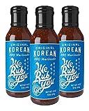 Bulgogi Sauce Kalbi Marinade Original Korean BBQ We Rub You 15 oz (Pack of 3)