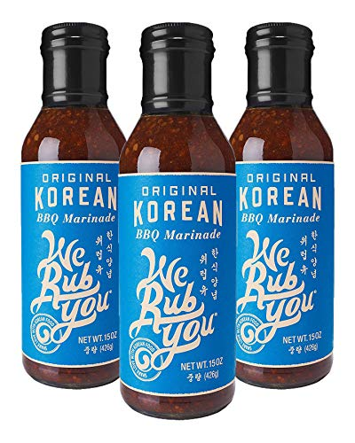 We Rub You Original Korean BBQ Hot Bulgogi Sauce & Marinade 15 OZ (Pack - 3)