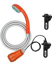 KEDSUM ポータブルシャワー アウトドアシャワー ダブル電池 USB充電式電池 簡易シャワー 持ち運び キャンプ 旅行 ペットシャワー 水遣り 防災 洗車