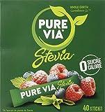 PURE VIA - Boîte 40 sticks - Stevia - Zéro Calorie