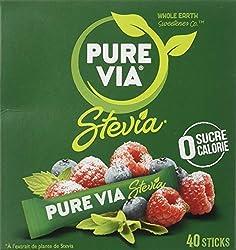 Pure Via Boîte de 40 Sticks 60 g - Lot de 4