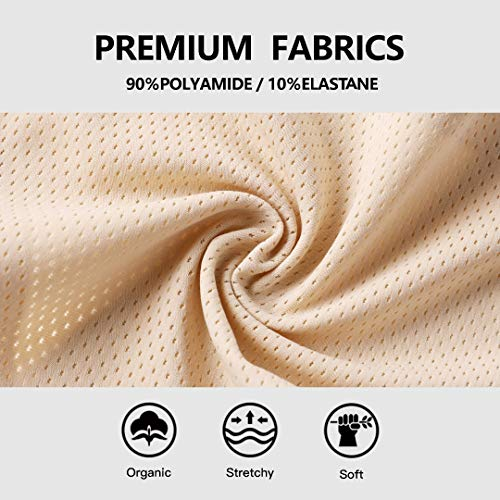 VOENXE Seamless Thongs for Women No Show Thong Underwear Women 5-10 Pack (C-5 Pack Basics, Medium)