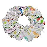 ZIRAN 10 Pares de Guantes de algodón Suave para bebés, Guantes para bebés,...