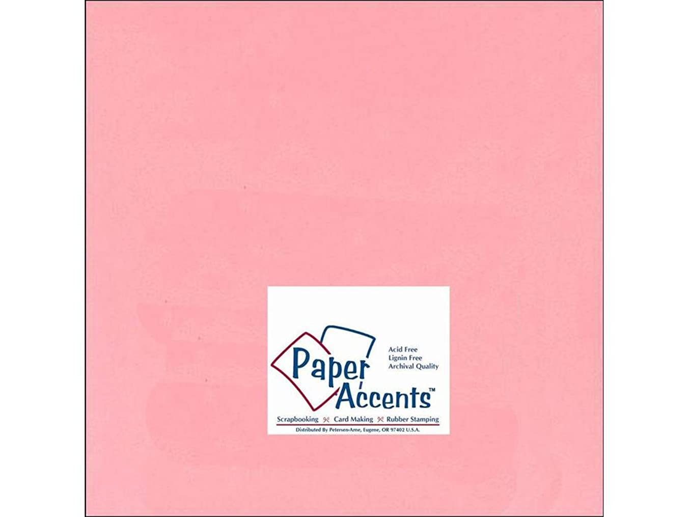 Accent Design Paper Accents Cdstk Smooth 12x12 60# Light Pink