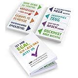OfficeTree 320 Haftnotizen lustig für Studenten 20x50 mm - Klebezettel mit frechen Sprüche im...