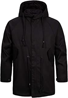 Men's Coat Long-Sleeve Softshell Functional Jacket Water-Repellent Hood Leisure Trenchcoat Windproof Warm Ideal for Cyclin...