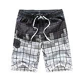 Kasebay Homme Shorts de Bain Plage Natation Bermuda Pant Court de Sport Beach Séchage Rapide