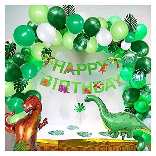 letaowl Kit Guirnalda Globos Fiesta de cumpleaños Globo Chico Dinosaurio cumpleaños Banner Dinosaur Globo Guirnalda