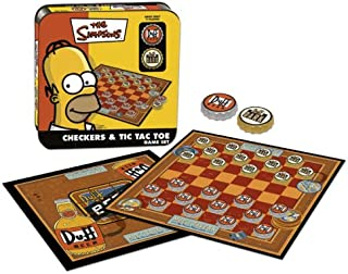 USAOPOLY Simpsons Checkers / Tic Tac Toe