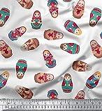 Soimoi 42 Zoll breit Viskose Chiffon Stoff russische Puppe