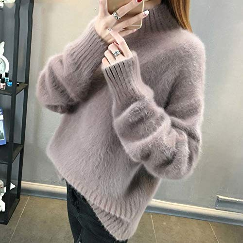 AFJLD Jumper Fluffy Coltrui Jumper Vrouwen Winter Wit Oversized Jumper Warm Jumpers Jumpers Dames Jumper Vrouwen