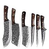 CUCHILLO DE DEBINACIÓN FORJADO Mano Cuchillo de carnicería de acero inoxidable Cuchillo de carne Cuchillo de carne de corte Cuchillo de corte Cocina Herramientas de cocina (Color : Style D)