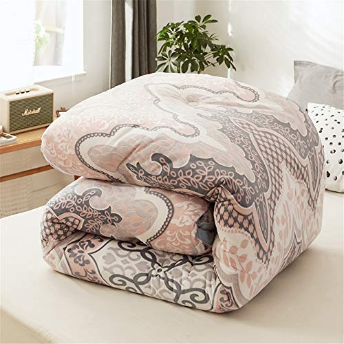 BeddingWish Gray Baroque Carving All Season Down Comforter 100%...