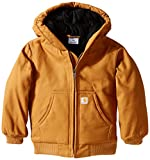 Carhartt Little Boys' Toddler Active Jacket, Carhartt Brown, 3T