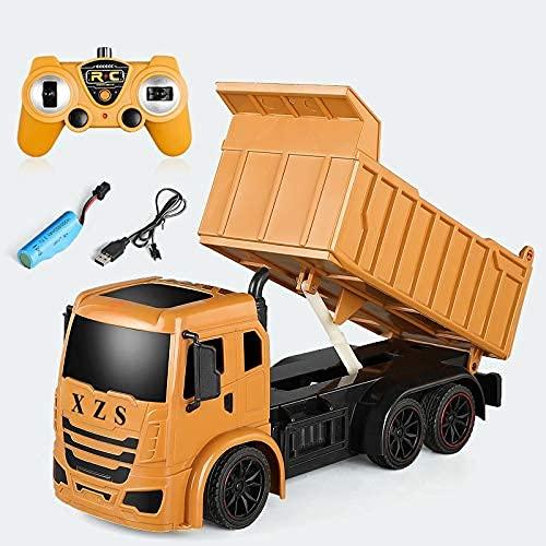 SXLCKJ Coche RC Coche de Control Remoto Ingeniería de Carga Camión volquete Camión volquete Juguete para niños Coche de Carreras eléctrico Alta Velocidad (Coche Inteligente)