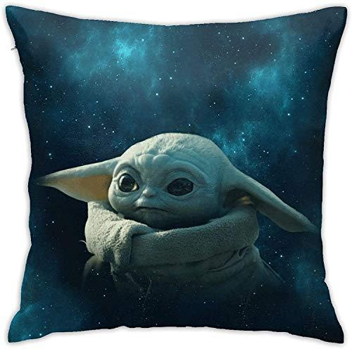 Fundas de almohada decorativas de Star Wars para decoración del hogar, fundas de almohada cuadradas para sofá cama, sofá con cremallera oculta, 45,7 x 35,7 cm