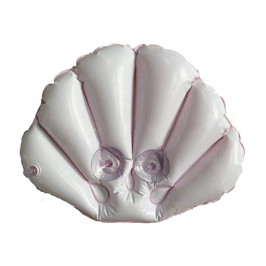 ライセンス枝うるさいはてなインフレータブルバックテリー布風呂枕吸盤扇型首枕サポートカラーランダム