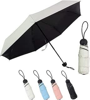 Lejorain Mini Best Lightweight Travel Sun&Rain Umbrella for Women - Small&Portable&UV Protection 50
