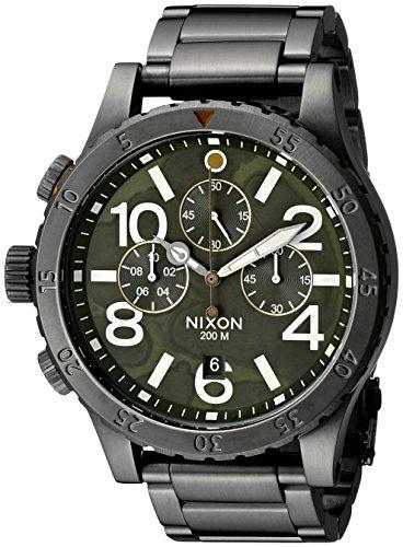 Nixon Men's A4862069 48-20 Chrono Analog Display Japanese Quartz Grey Watch