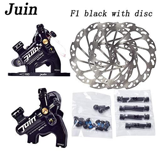Juin Tech F1 Cyclocross Kies Fahrrad Fahrrad Hydraulische Scheibenbremse Bremssattel Set (schwarz)