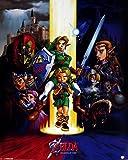 Pyramid International Ocarina Of Time The Legend Of Zelda - Mini póster (plástico, cristal, 40 x 50 x 1,3 cm), multicolor