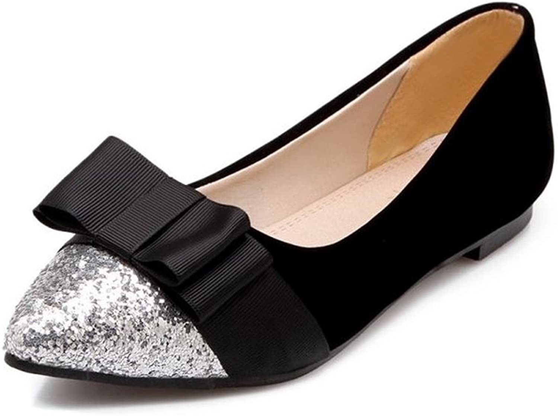 COLOV Woman Slip OnTwo-Tone Ballet shoes Dress shoes