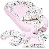 Palulli - Juego de 6 piezas para bebé con cojín de lactancia, colchón de bebé, manta...