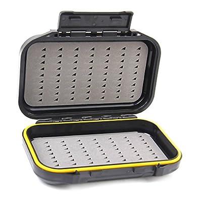 NewShot Waterproof Pocket Dual-Layer Fly Fishing Bait Storage Case Foam Insert Tackle Box