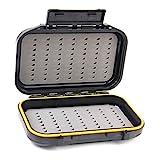 NewShot Caja de almacenamiento impermeable de doble capa de pesca con mosca de cebo de almacenamiento de espuma insertada caja de aparejos
