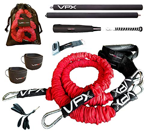 VPX Power Baseball Softball Home Gym 3.0 | 12pc Adjustable Lifting System | Replaces Weight, Cable, & Machine Training with Suspension Resistance Power | Men, Women, Boys, Girls | 220 LBS Resistance