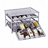 Spice Rack Organizer for Cabinet, 3-Tier Metal Spice...