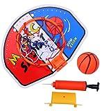 TOYANDONA Mini canasta de baloncesto con pelota y bomba para niños (color)