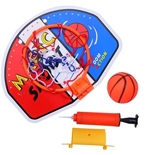 TOYANDONA Mini canestro da Basket con Palla e Pompa per Bambini Bambini (colorato)