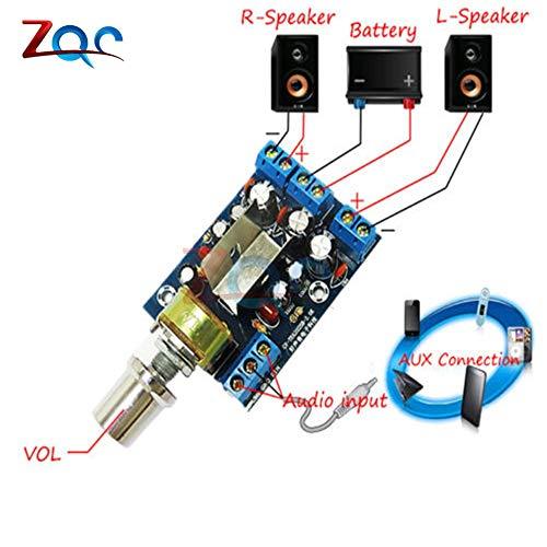TEA2025B 2,0 Stereo-Dual-Channel-Mini-Audio-Verstärker-Board für PC-LautSprecher 3W + 3W 5V 9V 12V-Auto