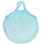 Bolsa de malla reutilizable para la compra Azul