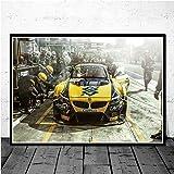KWzEQ Retro Muscle Car Race Carteles e Impresiones Arte de la Pared Lienzo Cuadros de Pared decoración para el hogar30X40cmPintura sin Marco