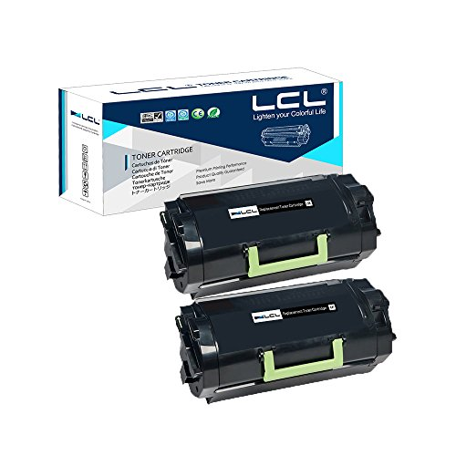 LCL Compatible Toner Cartridge Replacement for Lexmark 621 62D1000 62D3000 6K MX710DE MX710DHE MX711DE MX711DHE MX711DTHE MX810DE MX810DFE MX810DPE MX810DME MX810DTE MX810DTFE MX810DT(2-Pack Black)