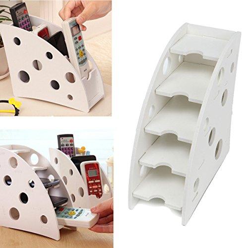 Bargain World Environmentally Wood Plastic Board Pen Phone TV Remote Control Holder Desktop Decal Decoration DIY Storage Box