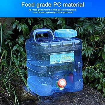 AISEN 10L Réservoir d'eau avec Robinet et Poignée, Bidon d'eau Alimentaire Portable, Distributeur de Boissons Extérieure, Godet d'eau Grande Capacité pour Voiture Camping Pique-Nique Voyage 10L-B